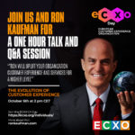 eCXO day: Ron Kaufman, one of the best CX and EX  Speakers around the Globe presenting in ECXO