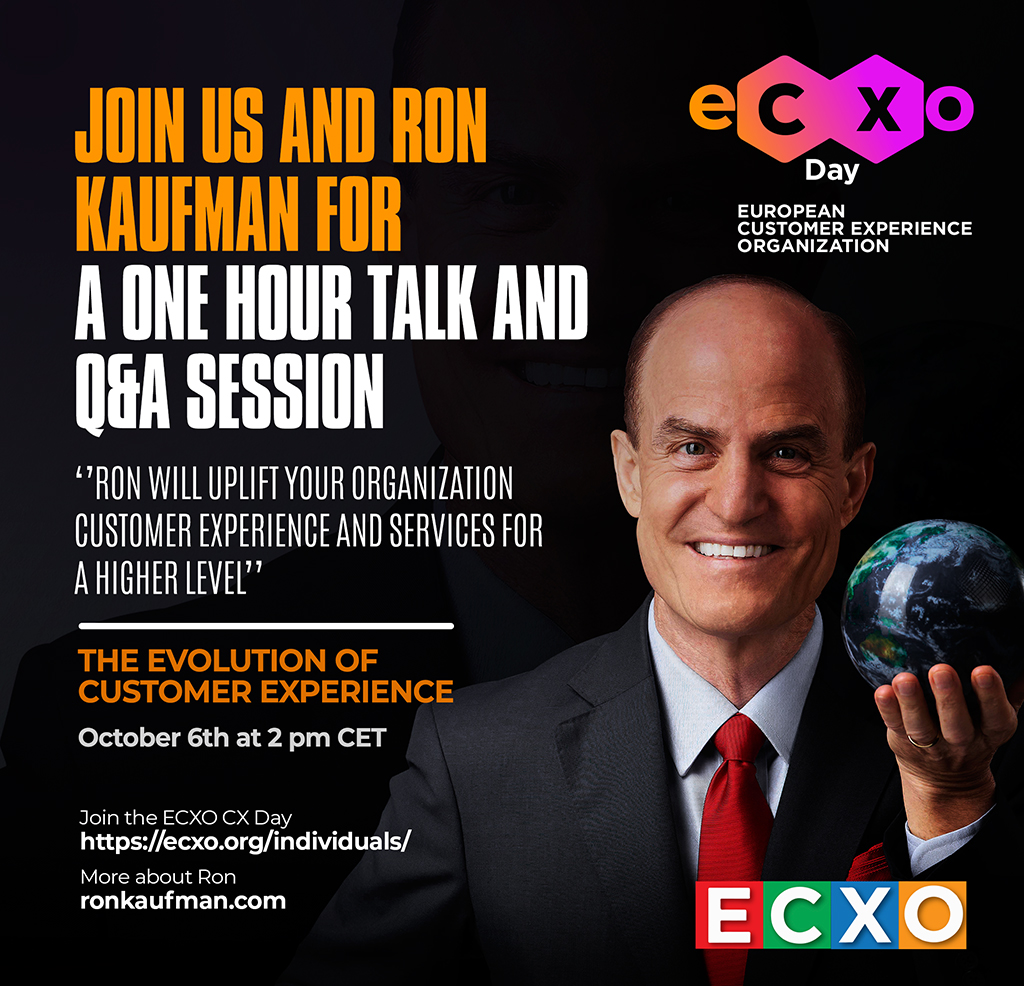 Read more about the article eCXO day: Ron Kaufman, one of the best CX and EX  Speakers around the Globe presenting in ECXO
